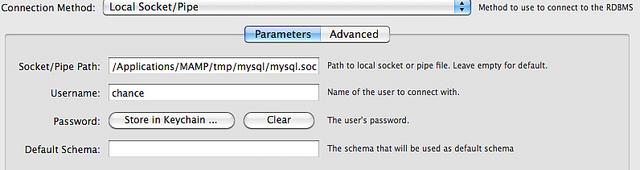 MySQL Workbench MAMP Socket Connection Settings